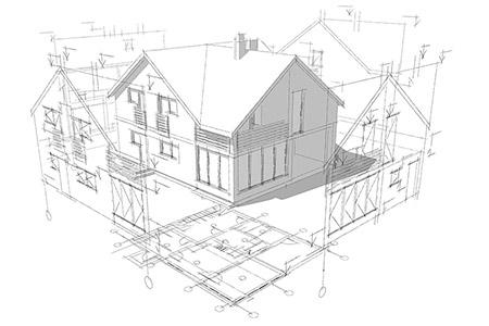 Ritning av hus i 3d-format