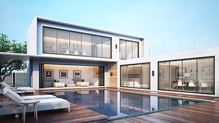 Vitt stort hus 2 plan